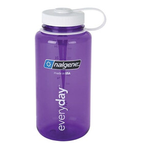 Nalgene 1L Wide Mouth Bottles Purple/White Tritan (2028)